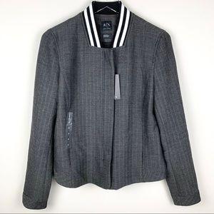 Armani Exchange Blazer Bomber Jacket Herringbone